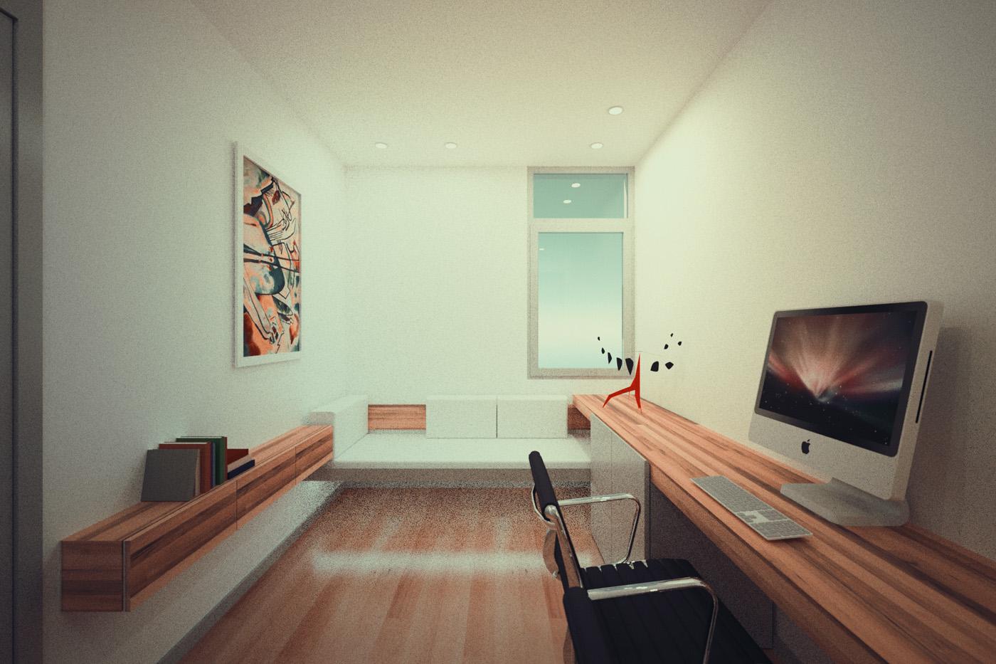 2011 decoraci n sala de estudios en valencia cabanes for Studio decoracion